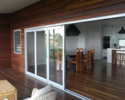 Buderim House Carport Stacker Doors